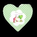 OUPS Herzkissen klein Grün - Alles Liebe