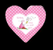 OUPS Herzkissen klein Rosa - Schön, dass es dich gibt