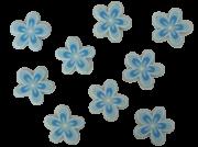 Blumen blau - rund