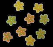 Blumen bunt bemalt - rund