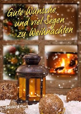 Zu Weihnachten.Gute Wünsche Und Viel Segen Zu Weihnachten