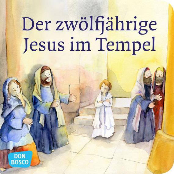 Der zwölfjährige Jesus im Tempel – Mini-Bilderbuch