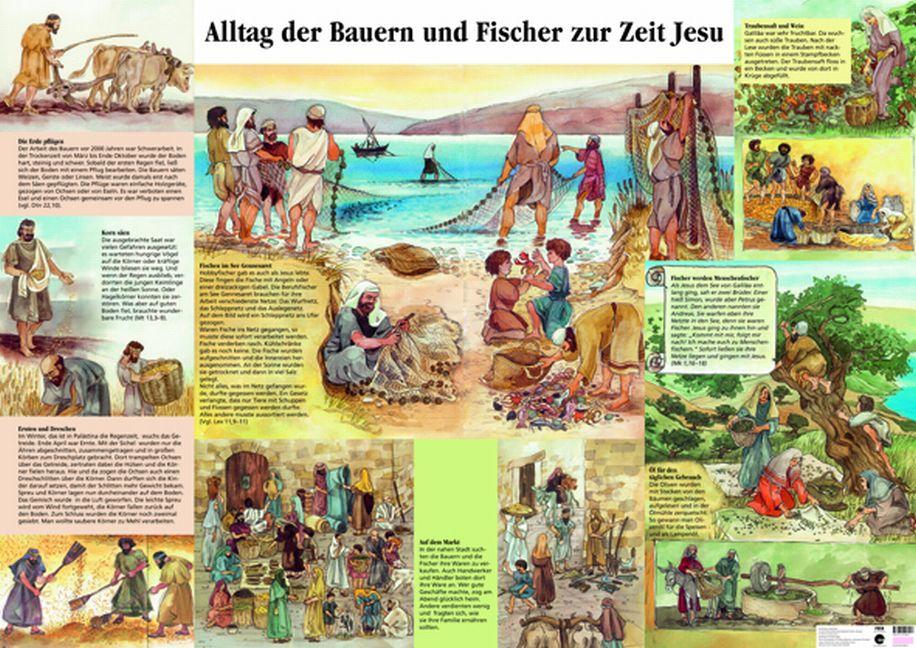 bauern und fischer zur zeit jesu plakat evangelisations zentrum salzburg. Black Bedroom Furniture Sets. Home Design Ideas