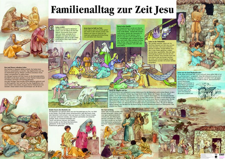familienalltag zur zeit jesu plakat evangelisations zentrum salzburg. Black Bedroom Furniture Sets. Home Design Ideas